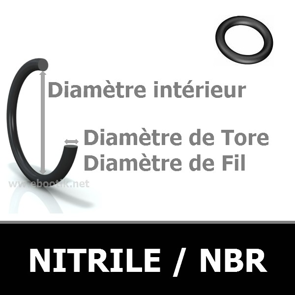 1.07x1.27 JOINT TORIQUE NBR 80 SHORES AS 002